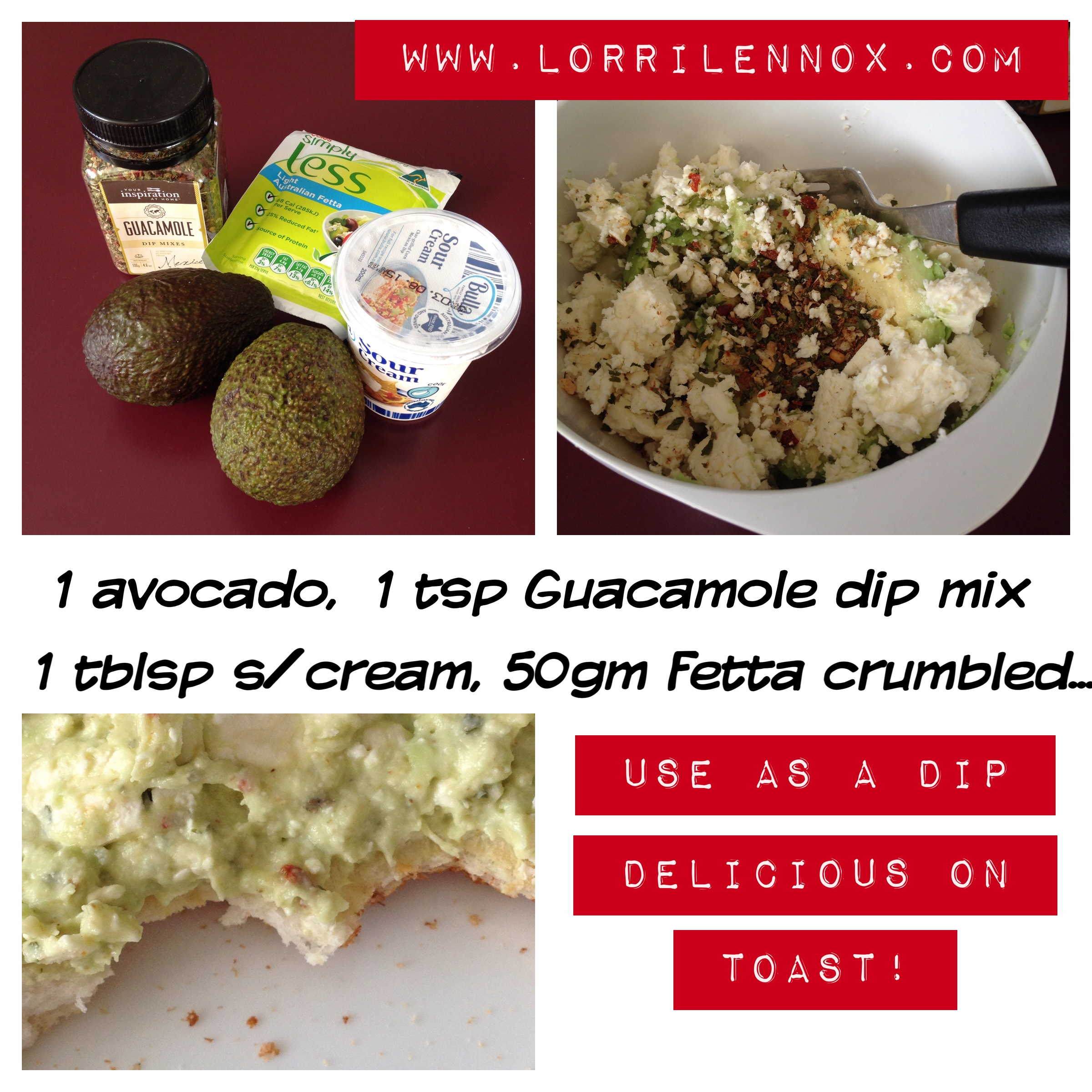 Fetta Guacamole on toast