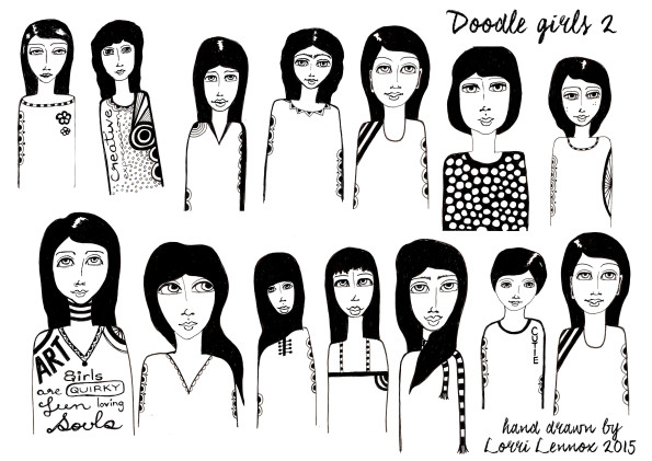 DOODLE GIRLS SHEET TWO72