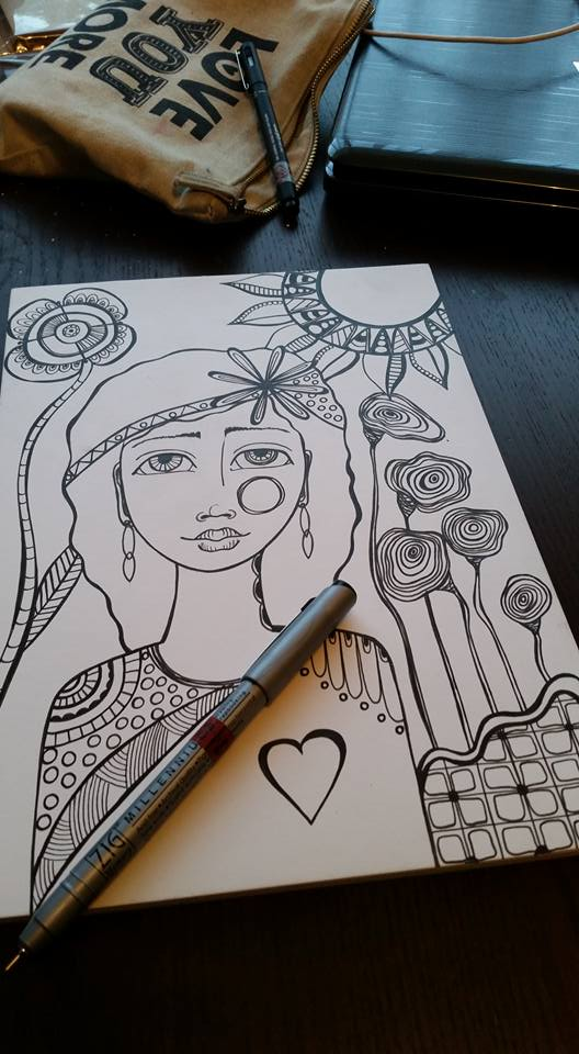 Colouring In Book – Preparing, Sketching, Doodling fun