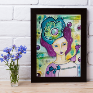 Mockup of framed artwork 'Enjoy Life' by Lorri Lennox