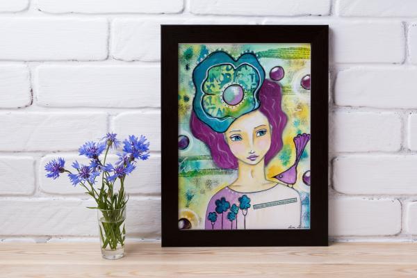 Mockup of framed artwork 'Enjoy Life' by Lorri Lennox